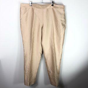 NEW Talbots Silk Gold Pants Signature Trousers